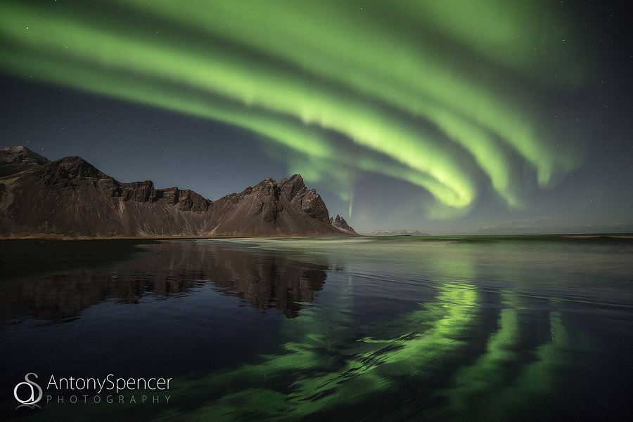Photograph Vestrahorn Aurora by Antony Spencer on 500px