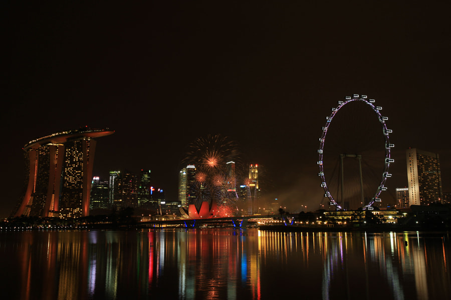 Fireworks at Marina Bay Singapore!