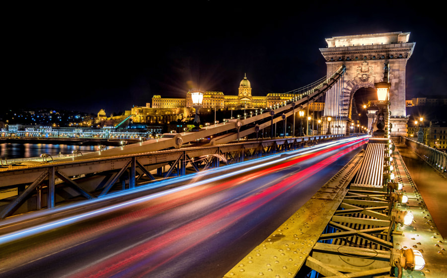 Photograph Chain Bridge at night by Yee Seng Tan on 500px