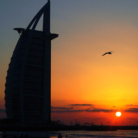 Sunset at the Burj Al Arab by Graham Taylor (gtjeddah)) on 500px.com