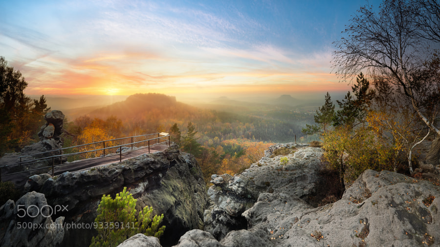 Saxon Switzerland in autumn colors