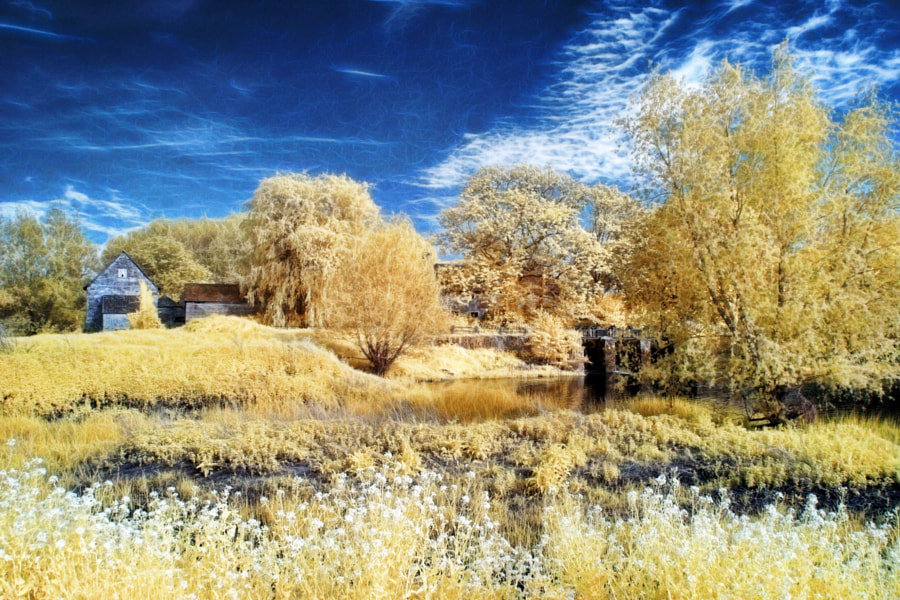 Photograph Fiddleford Mill Infrared by Chris Atkinson on 500px