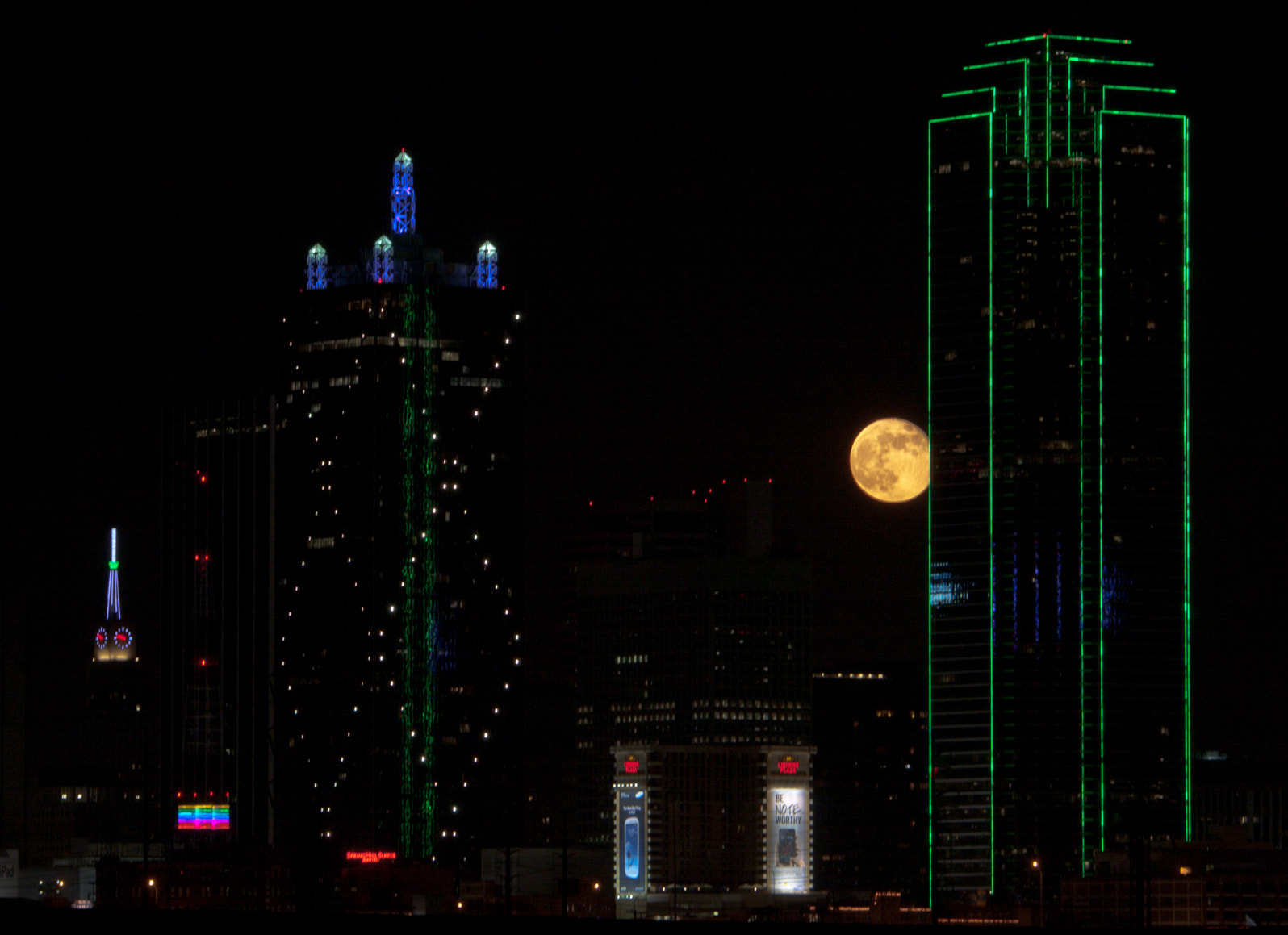 Photograph Moon over Dallas by Alexandre Guapyassu on 500px