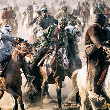 Buzkashi in Mazar-i-Sharif, Afghanistan