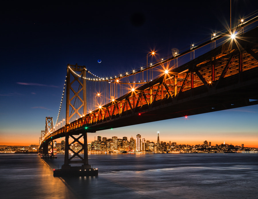Photograph BayBridgeBlueFull by Bill Nichols on 500px