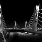 Постер, плакат: Curved bridge BW