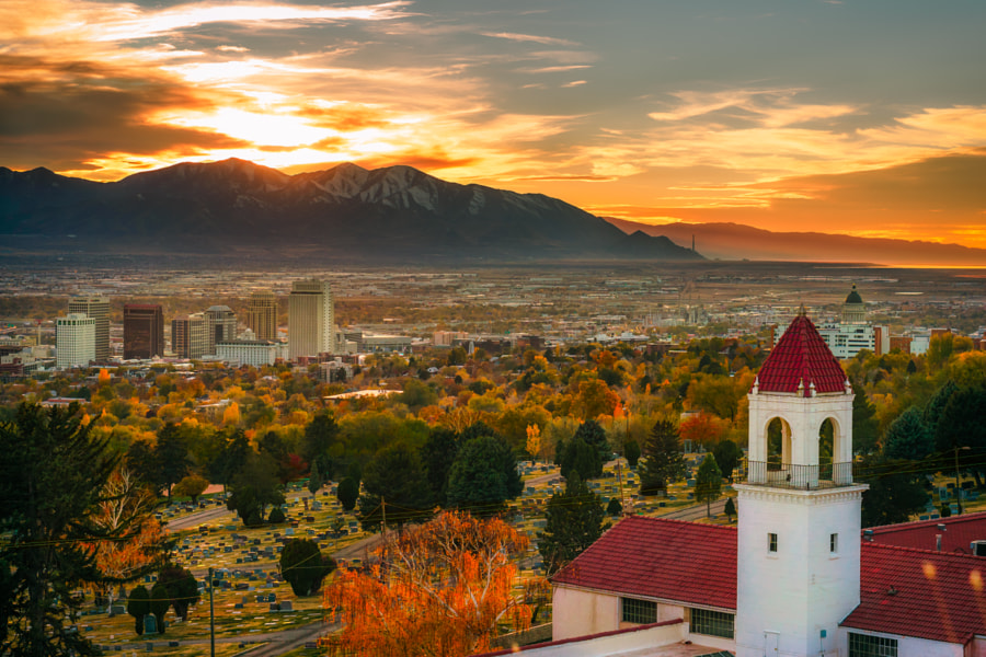 Photograph Salt Lake City Autumn Sunset by James Udall on 500px