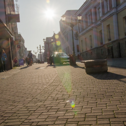 Main walking path in Gorlice city, Poland