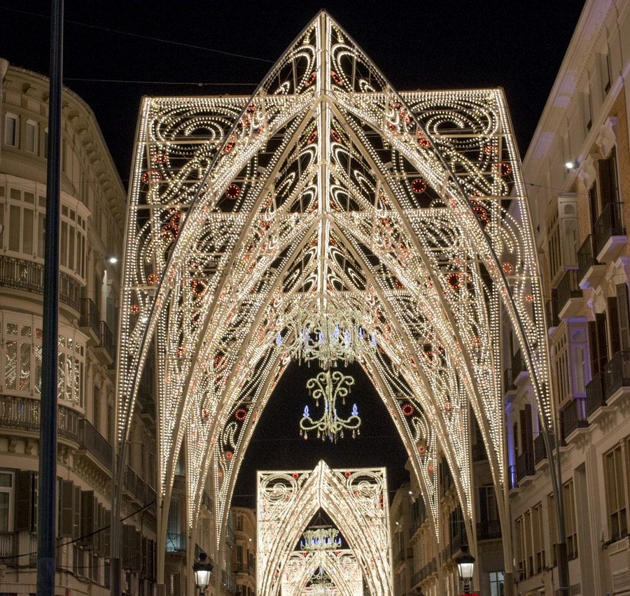 Larios St. in Christmas by Isa Ruiz on 500px.com