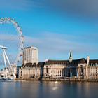 Постер, плакат: City of London with London Eye