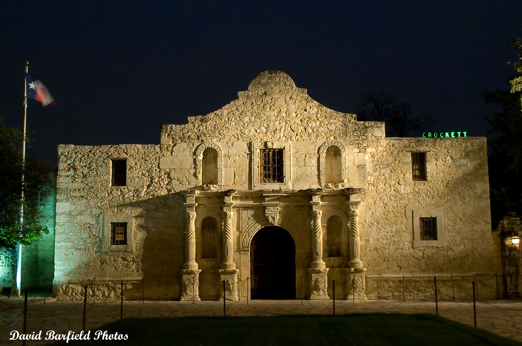 Photograph Alamo at Night by David Barfield on 500px