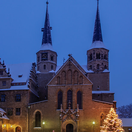 Merseburg Cathedral at Christmas time