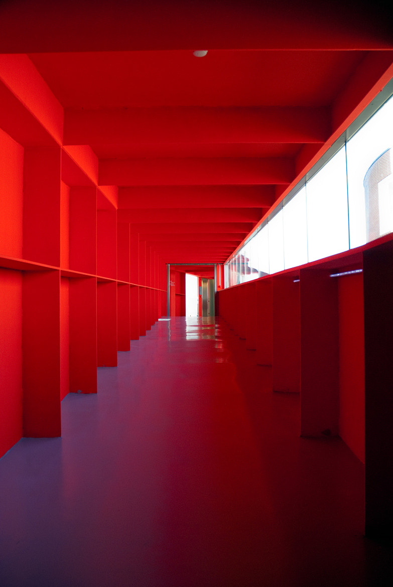 Photograph Red corridor by Berni Beudel on 500px