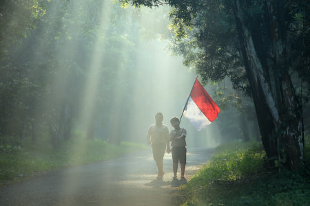 Red and White by dewan irawan