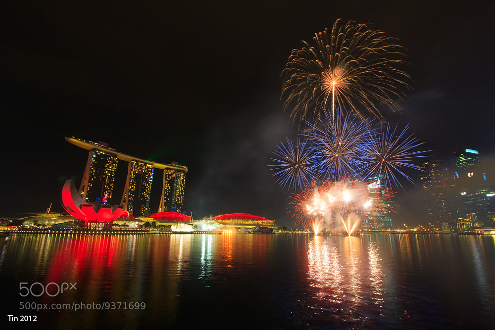 Photograph Fireworks by the bay by christine tan on 500px