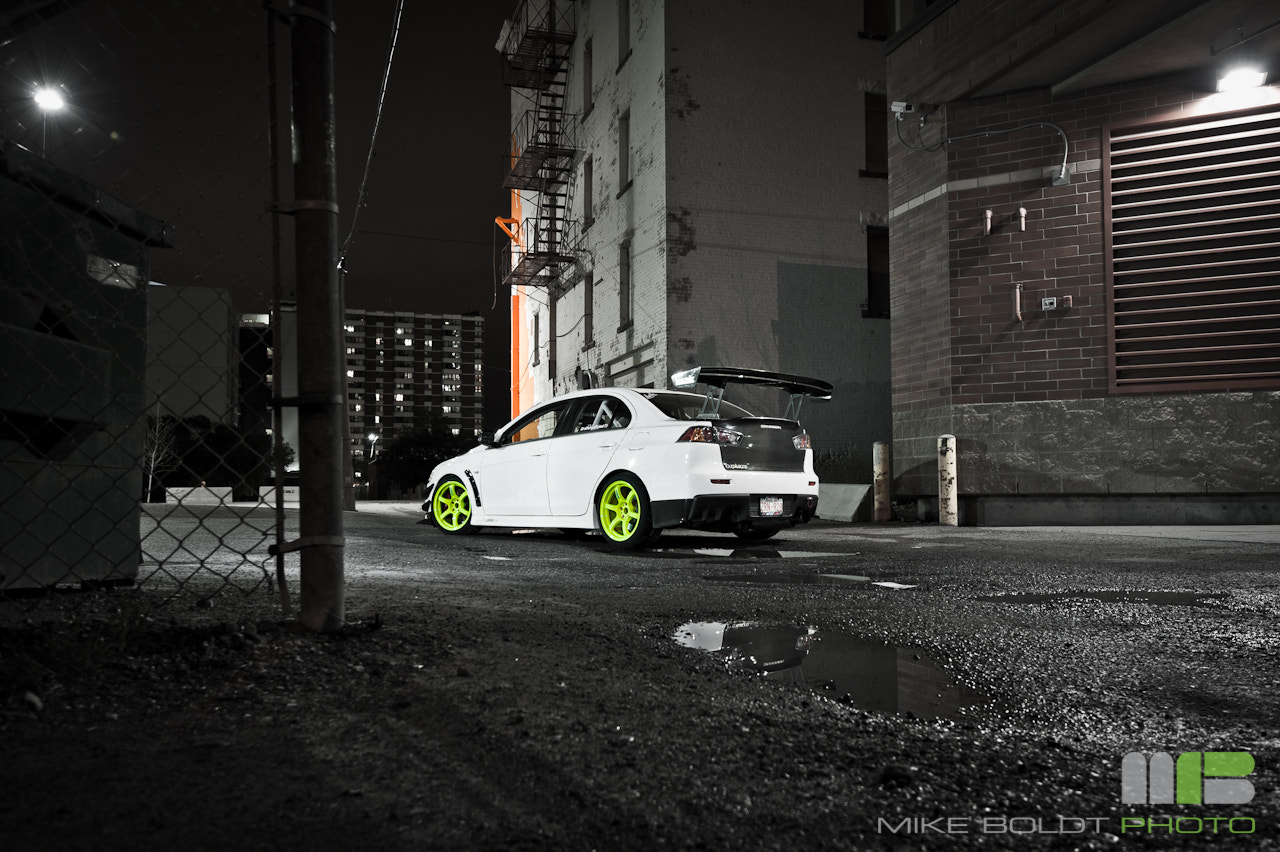 Photograph Evo X Rear by Mike Boldt on 500px