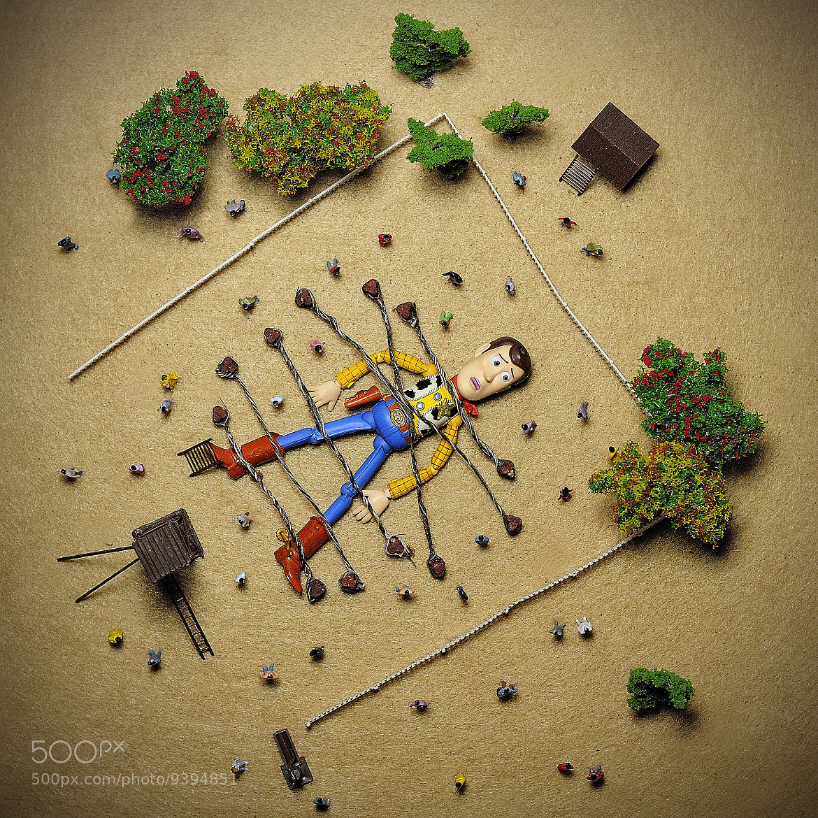 Photograph Woodyver´s travels (cenital) by The Secret Life of My Toys  on 500px