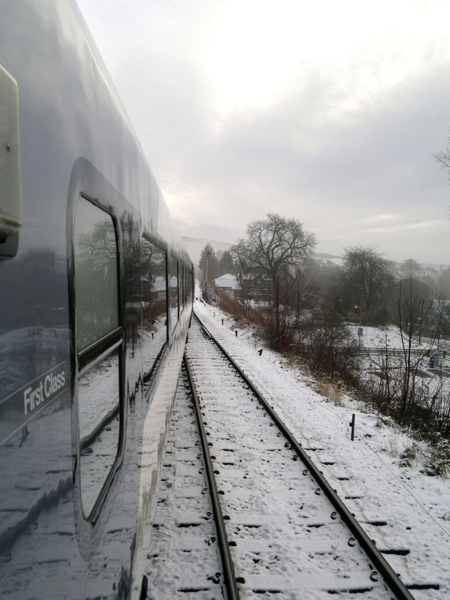 Photograph Snowy train home by Richard Willson on 500px
