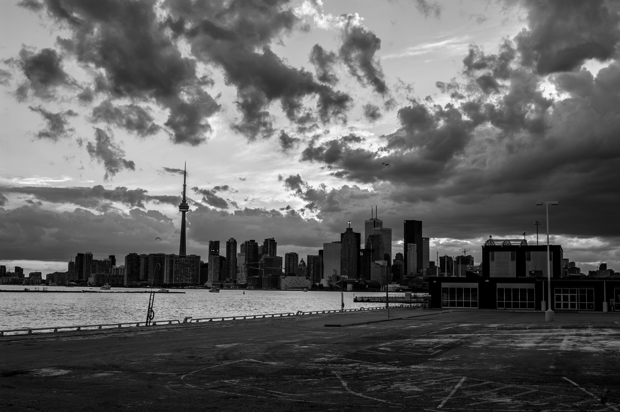 Photograph Toronto Sunset Sequence B&W by Jonathan Cox on 500px