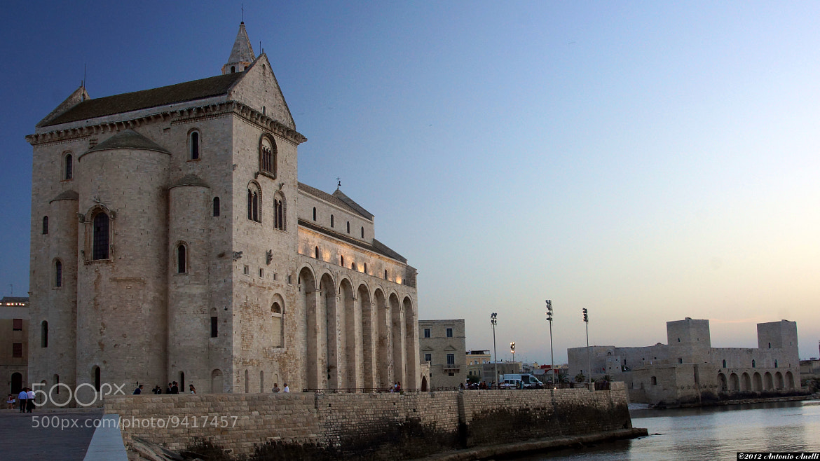 Photograph Wedding in the cathedral: the cathedral and the castle of Trani (Italy) a few minutes before sunset by Antonio Anelli on 500px