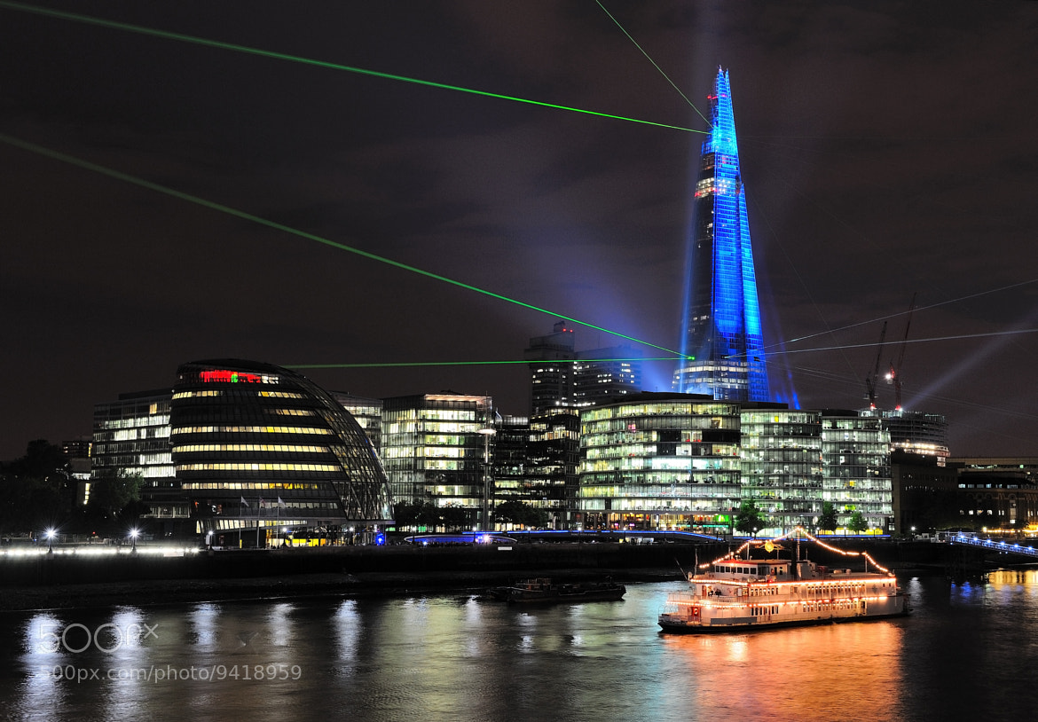 Photograph The Shard Tower Laser and Light Show.  by Andreas Jones on 500px