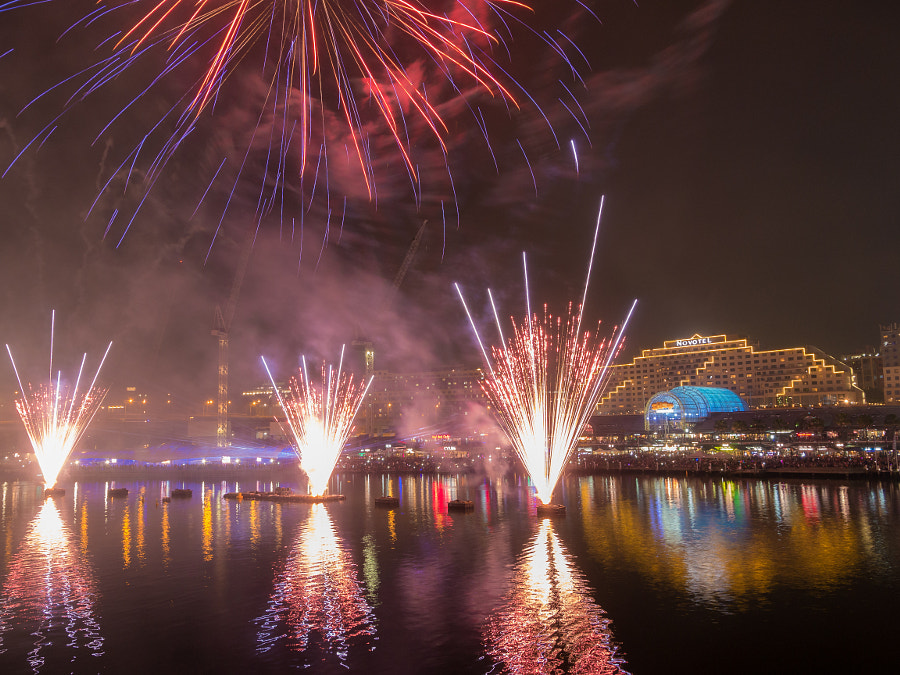 Photograph Happy New Year 2015 Darling Harbour Sydney Australia by Travis Chau on 500px