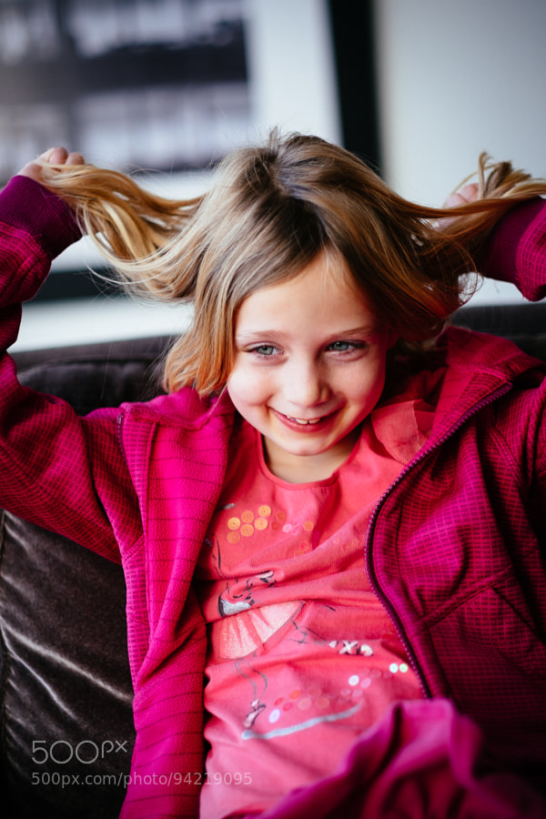Photograph Ainsley Playing With Her Hair by Scott Hill on 500px