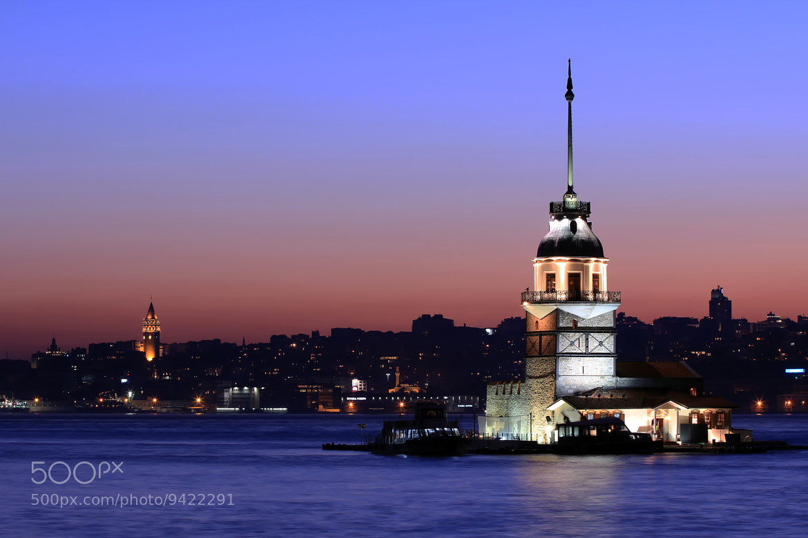 Photograph Walking into the night with Maiden's Tower  by Musa KAYRAK on 500px