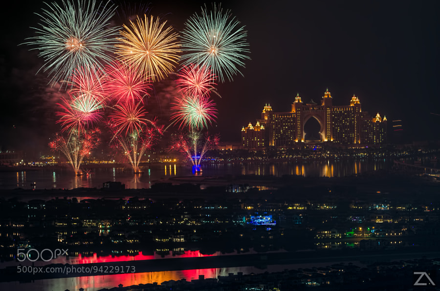 Photograph Fireworks In Atlantis Dubai by Zohaib Anjum on 500px