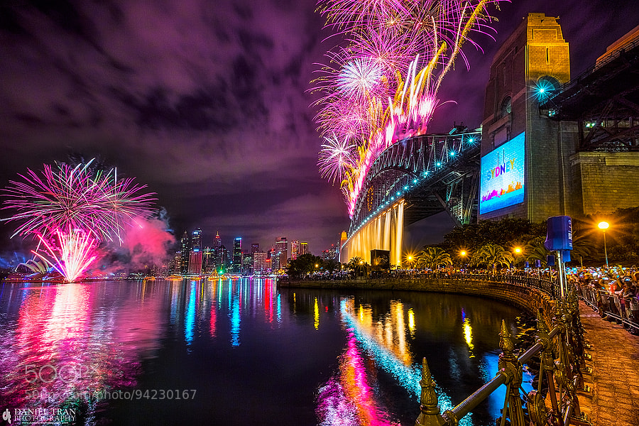 Photograph Sydney NYE Fireworks by Daniel Tran on 500px