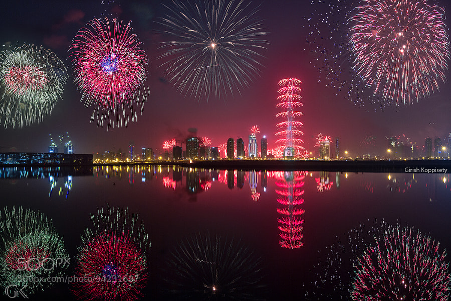 Photograph Dubai Fireworks 2015 by Girish Koppisetty on 500px