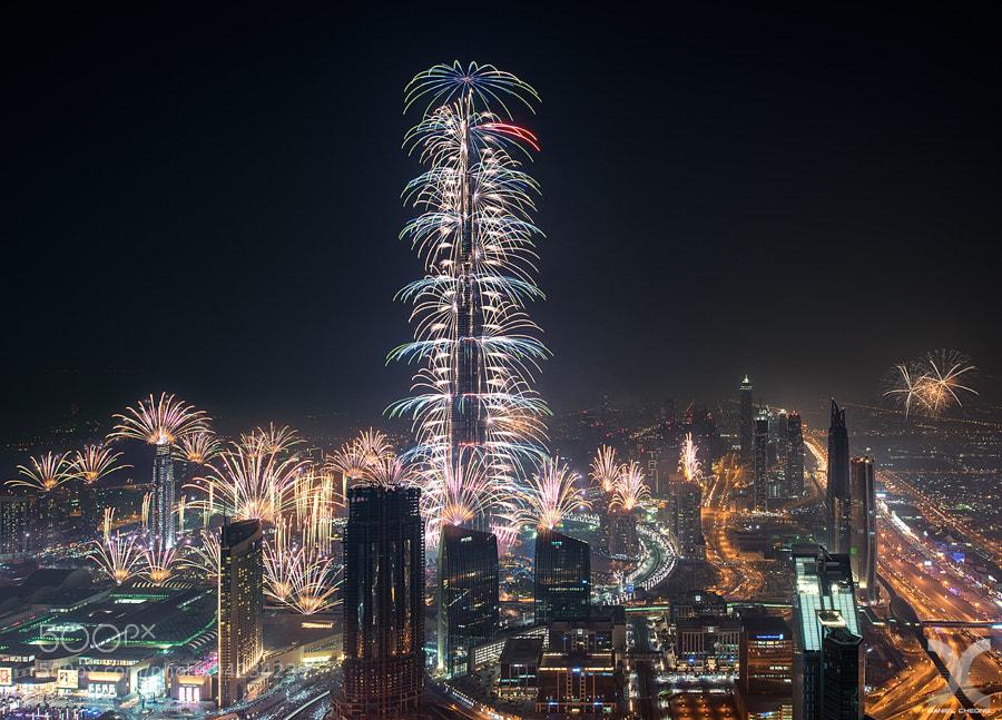 Photograph Dubai 2015 - Burj Khalifa Fireworks by Daniel Cheong on 500px