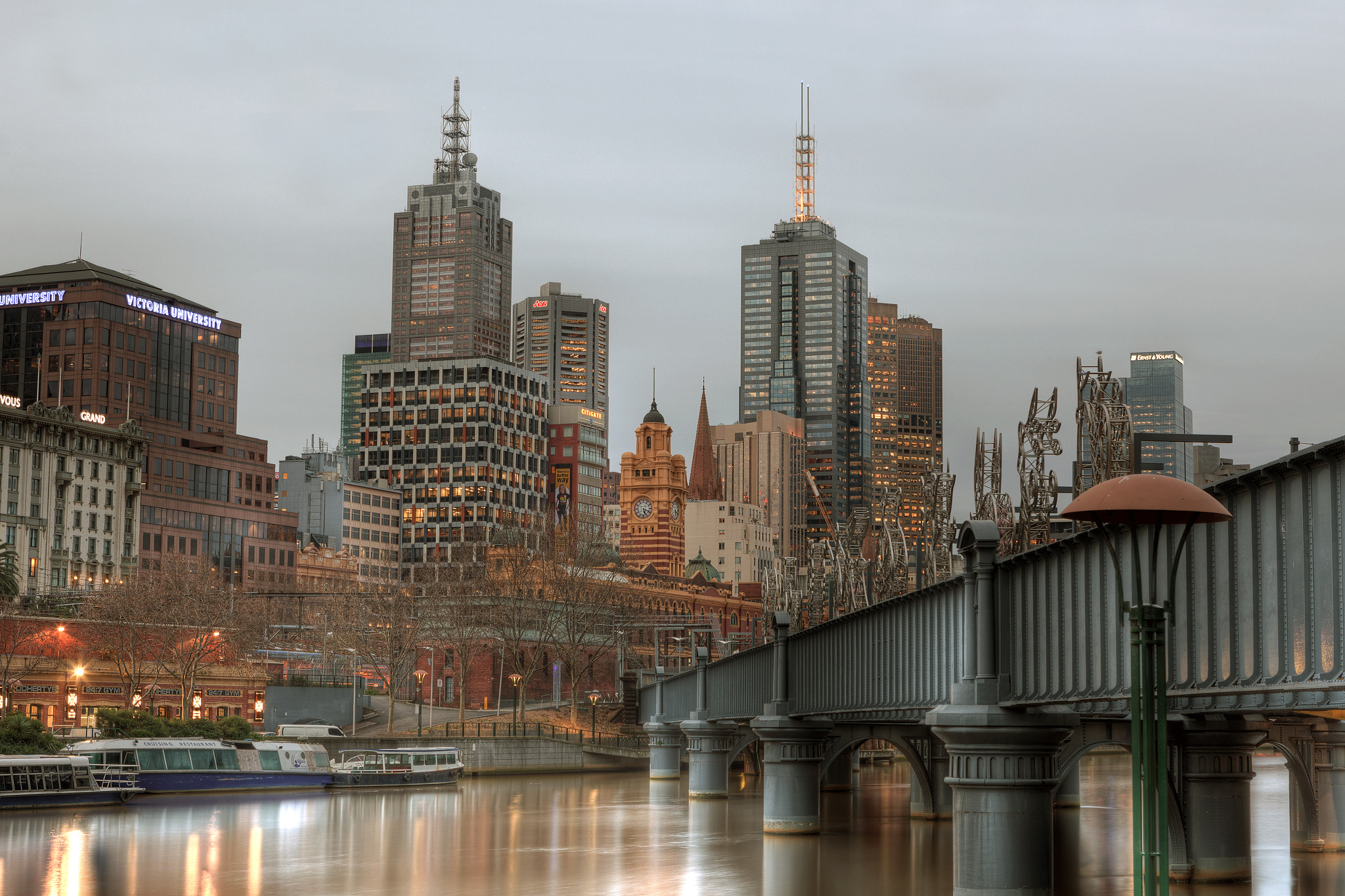 Photograph Melbourne Winter Evening HDR by mark burban on 500px