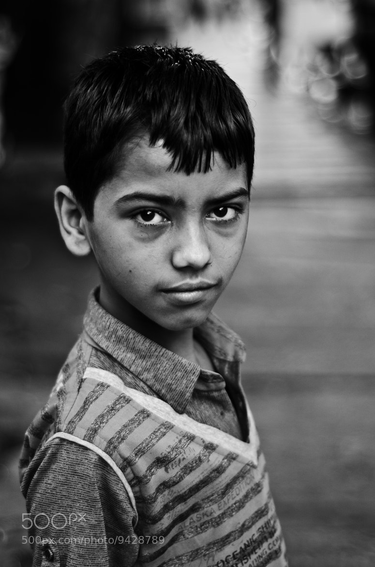 Photograph the shy kid by shankar  joshi on 500px