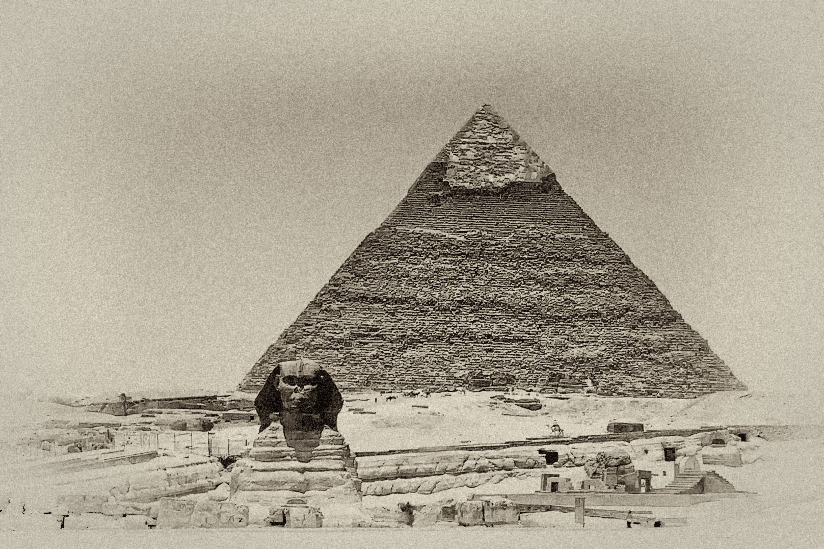 Photograph The Sphinx and the Pyramid of Khafre by David Abrantes on 500px