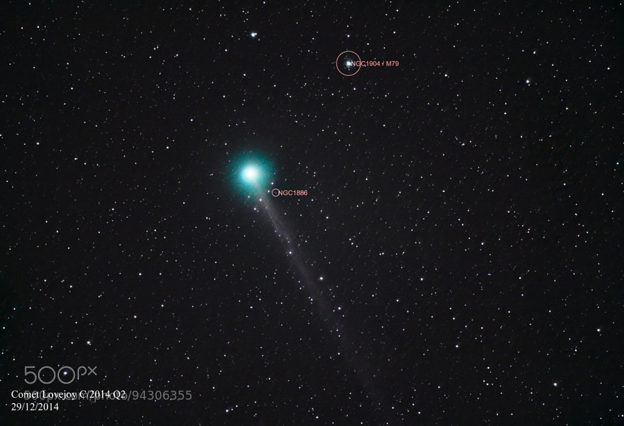 Photograph Comet Lovejoy C/2014 Q2 by Aaron Greenville on 500px