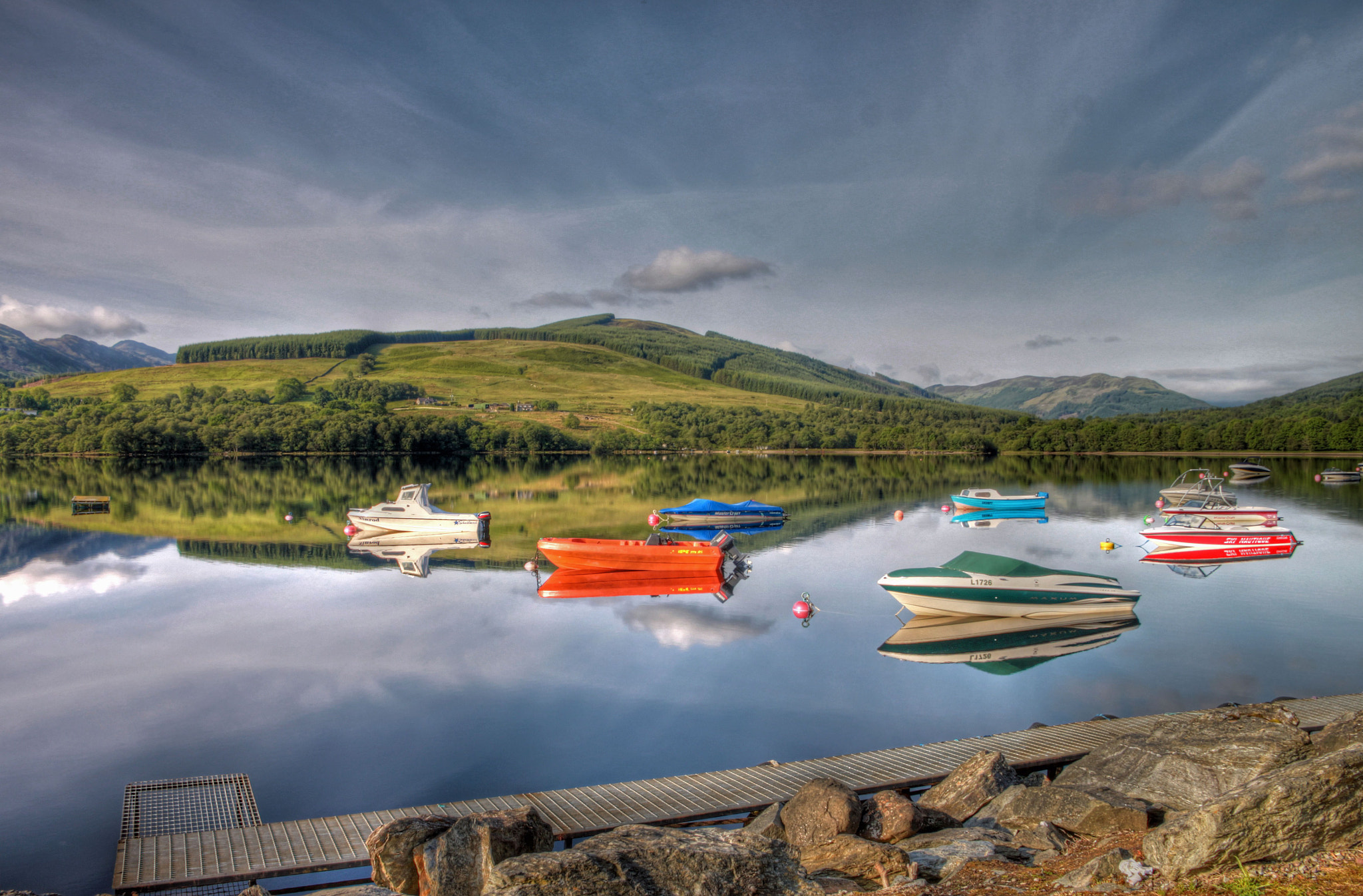 Photograph Reflectons On The Loch by Hilda Murray on 500px