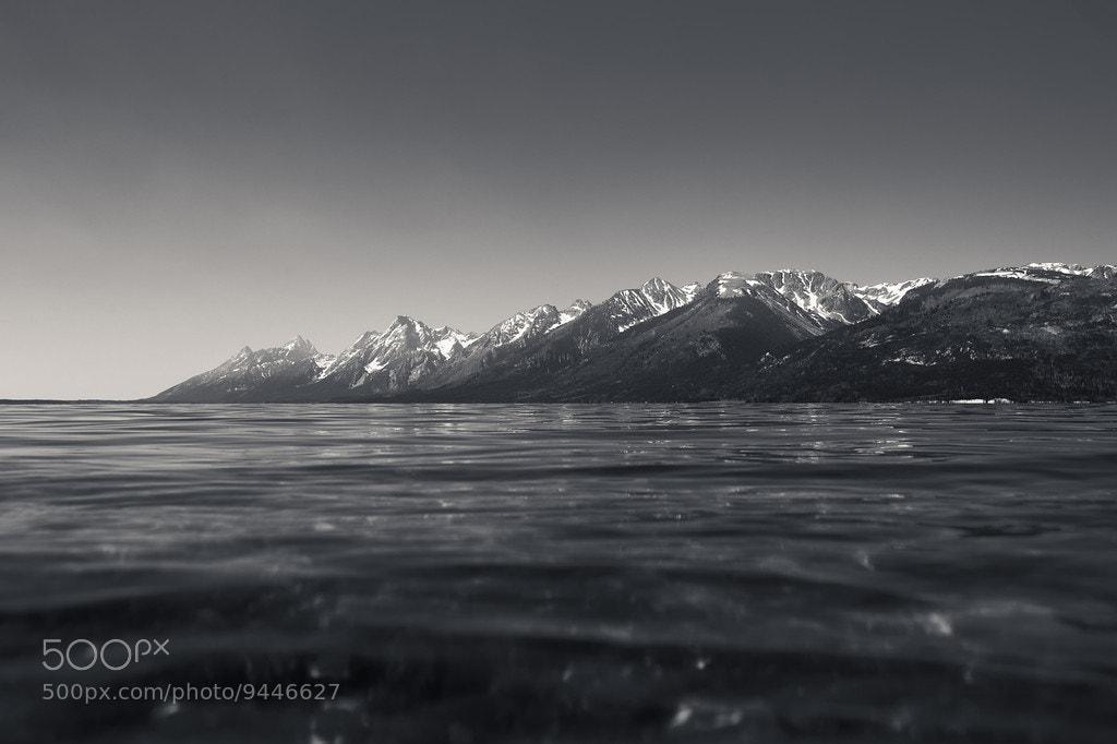 Photograph Grand Tetons from Jackson Lake by John Ladwig on 500px