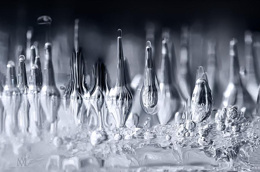 macro ice abstract