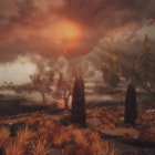 Постер, плакат: Sunset close to Solitude Skyrim
