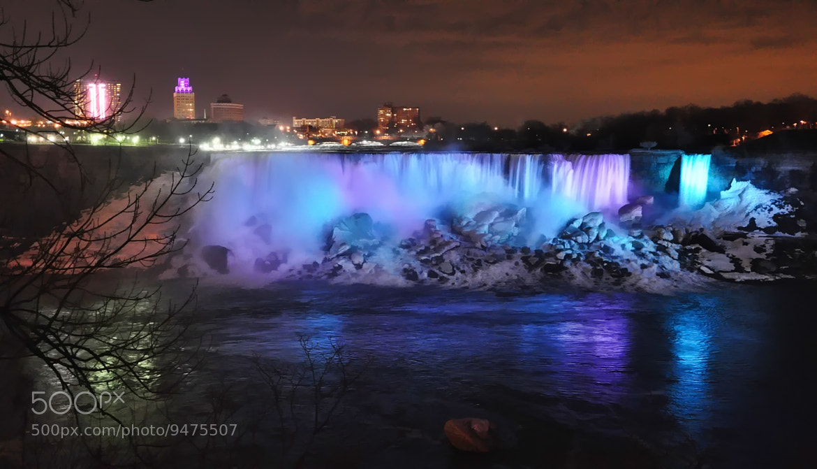 Photograph Niagara Falls at night by Helen Filatova on 500px