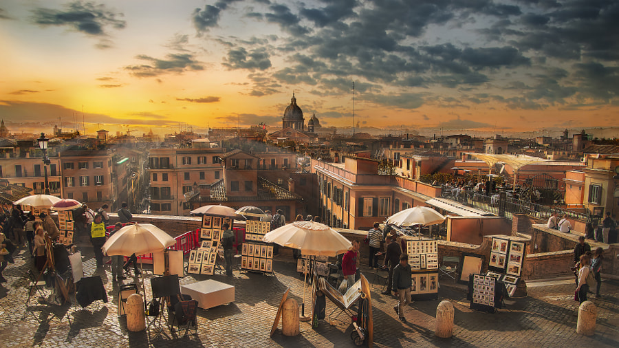 Skyline of Rome by Nicodemo Quaglia on 500px.com
