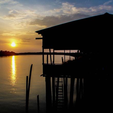 Malaysia, Sunset on Selangor river