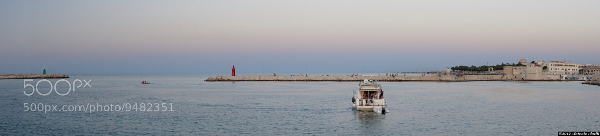 Photograph The entrance to the port at sunset - Trani (Italy) by Antonio Anelli on 500px