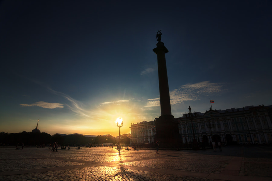 Sunset at Palace Square
