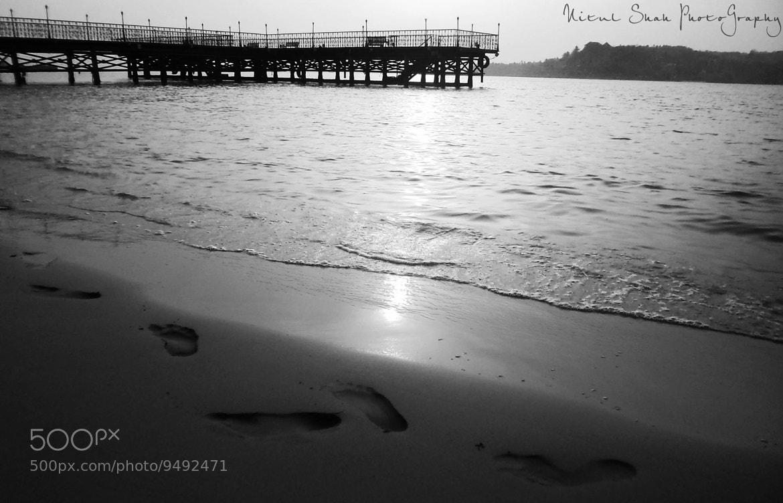 "Photograph "" Walking Along D Shore..... "" by Nitul Shah on 500px"