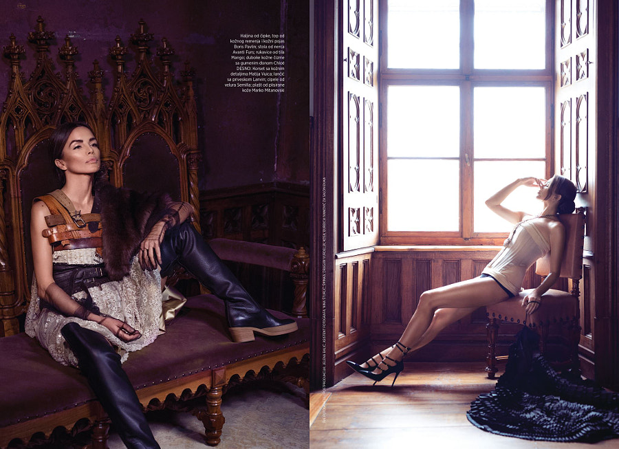 Harper's Bazaar Serbia / editorial with Severina