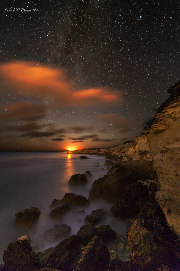 Capo Mannu MoonSet