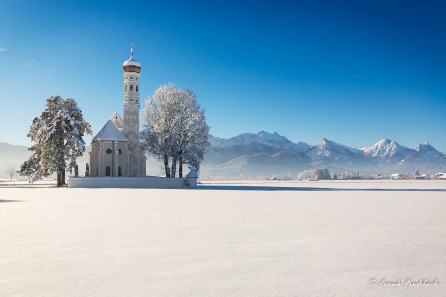St. Coloman at a sunny winter day, Allgäu, Germany by Frank Fischbach on 500px.com
