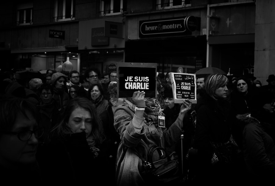Photograph Nous sommes charlie by Gautier Bailleul on 500px